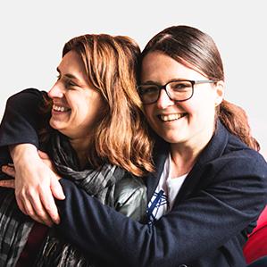 Bettina Schumann und Melanie Parnitzke